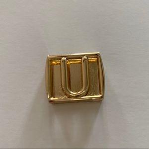 Henri Bendel The Letter U Gold Charm